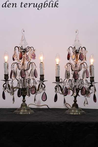 Franse tafel lampen 2 lichtpunten