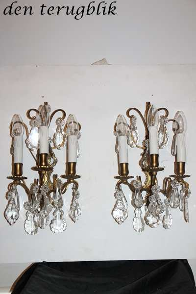 Franse wandlampjes 3 lichtpunten