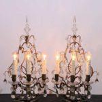 Groot stel Franse tafellampen