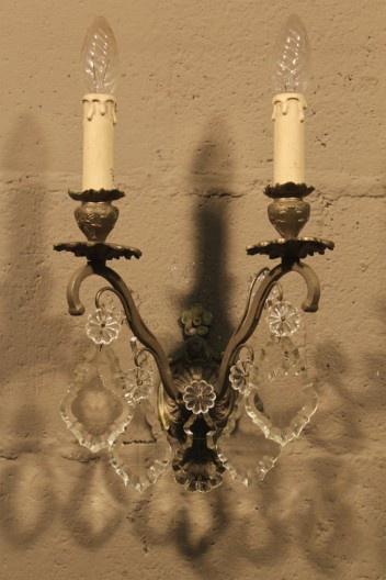Nikkel kleurige Franse wandlamp