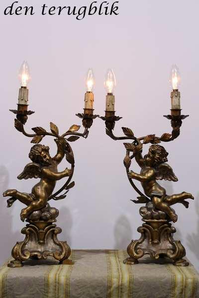 Stel engeltjes staande lampjes