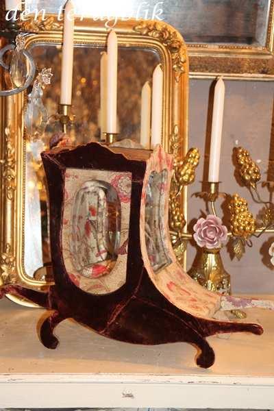 Antieke Franse stoffen sierkoets